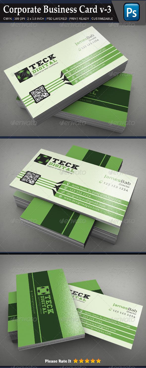Corporate Business Card v-3 - Corporate Business Cards