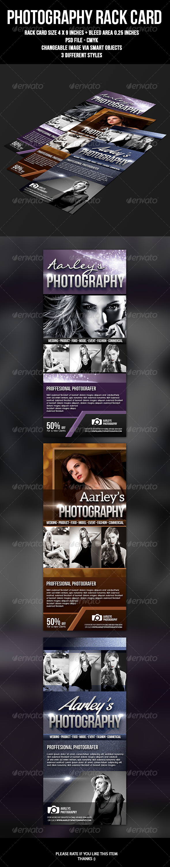 Photography Rack Card - Commerce Flyers