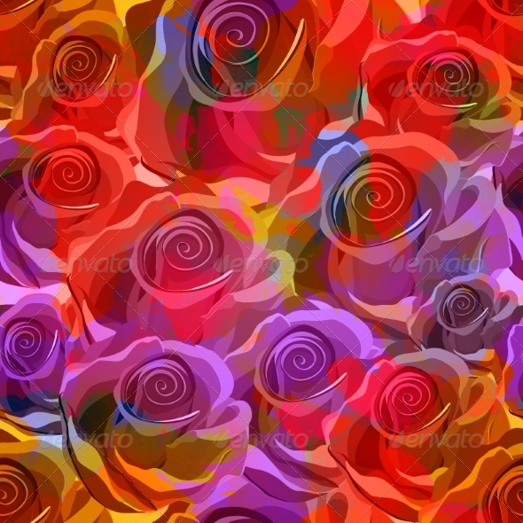 Seamless Roses Pattern - Patterns Decorative