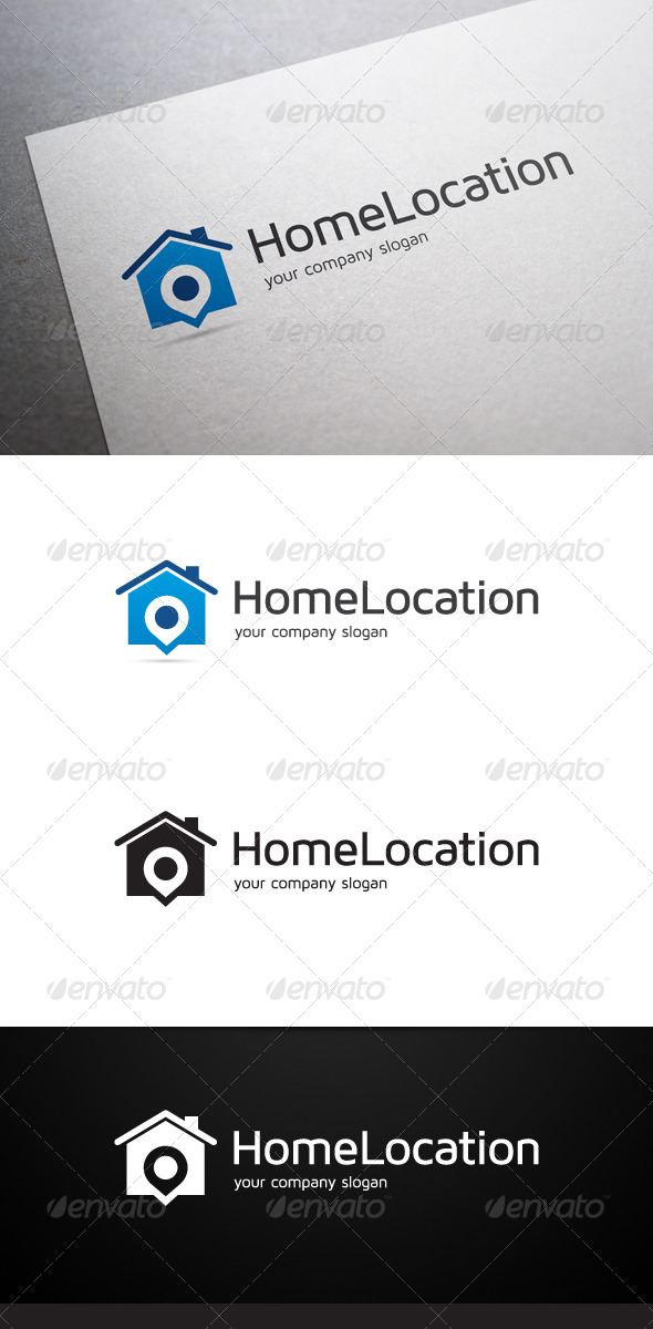 Home Location Logo - Buildings Logo Templates