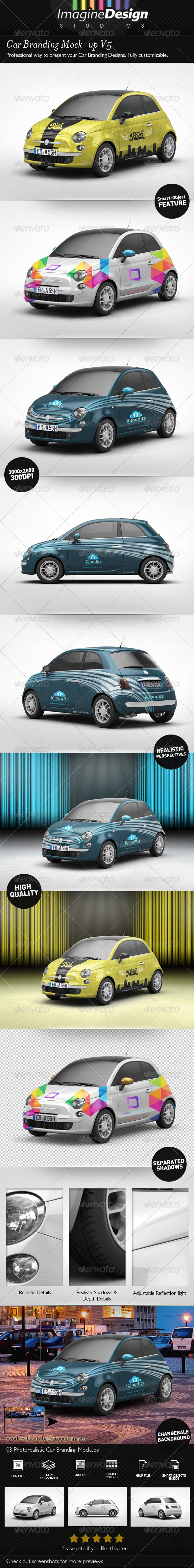 Car Branding Mock-Up V5 - Vehicle Wraps Print