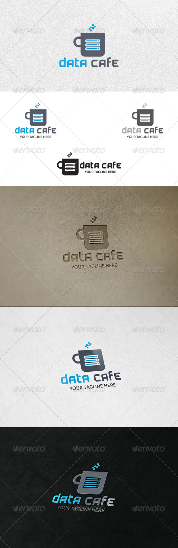 Data Cafe - Logo Template - Symbols Logo Templates