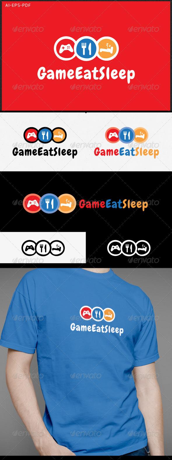 Game Eat Sleep - Gamer Logo - Logo Templates