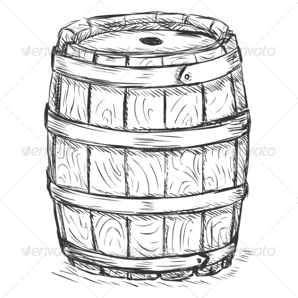 Old Wooden Barrel - Man-made Objects Objects