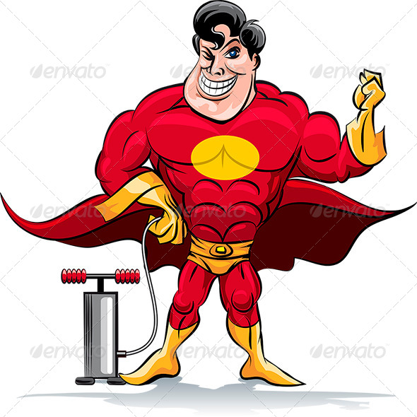 Pumping Superhero - Characters Vectors