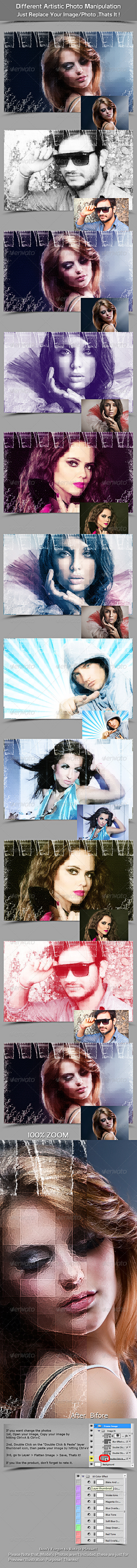 Different Artistic Photo Manipulation - Photo Templates Graphics