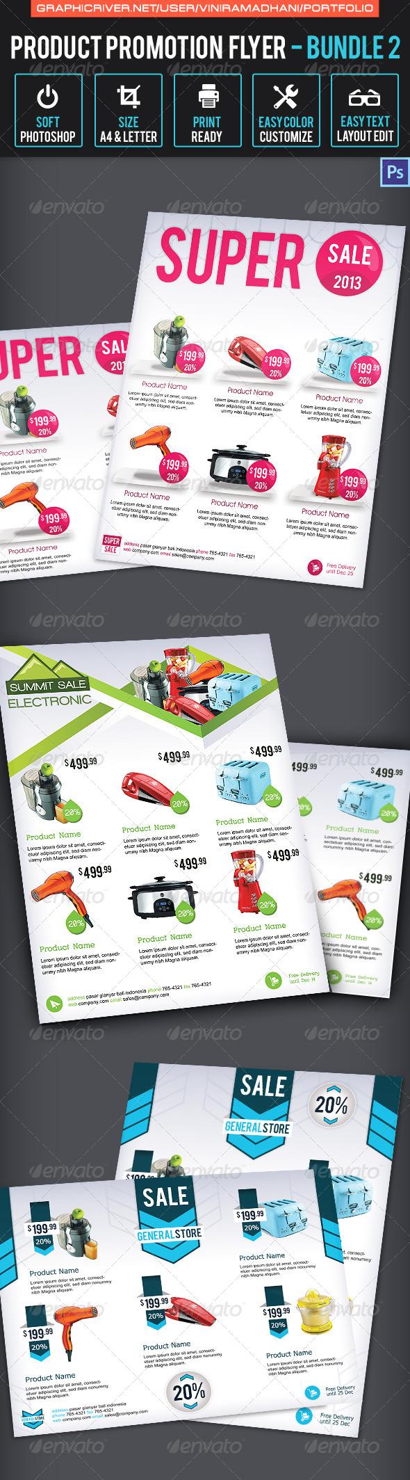 Product Promotion Flyer Bundle 2 - Commerce Flyers