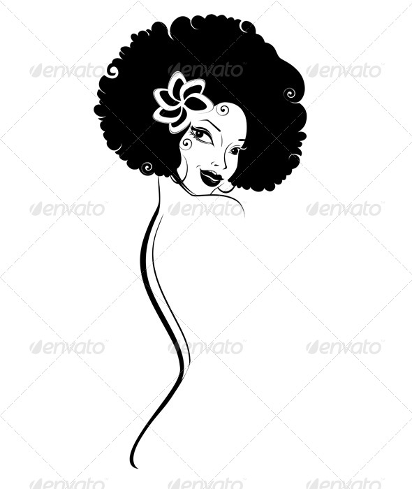 Portrait of African-American Woman - People Characters