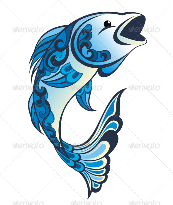 Water Fish - Animals Characters