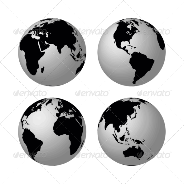 Globes - Travel Conceptual