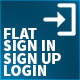 Flat Authentificator Sign In / Signup Process - GraphicRiver Item for Sale