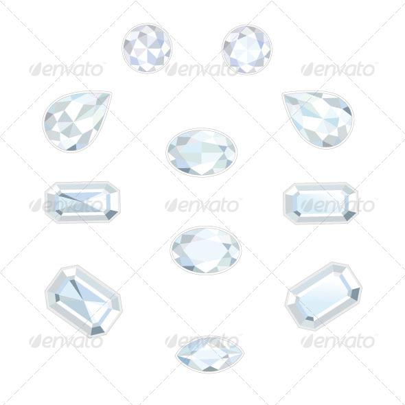Diamond Set - Objects Vectors