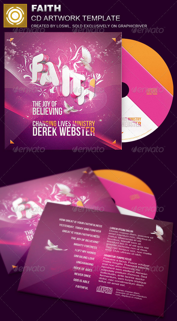 Faith CD Artwork Template - CD & DVD Artwork Print Templates