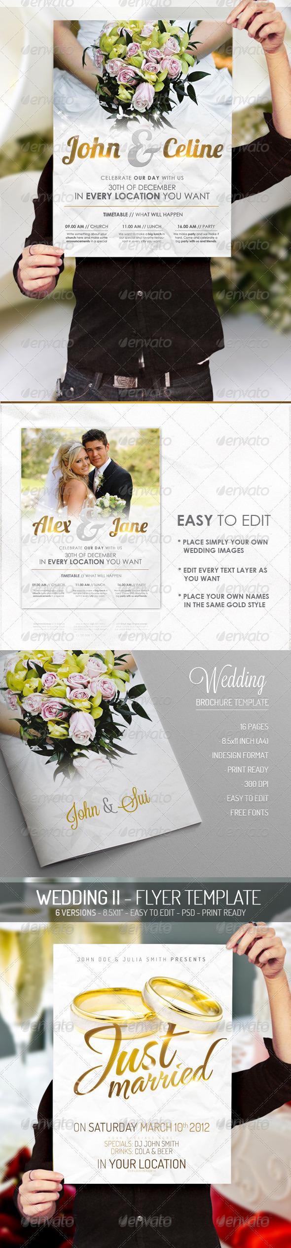 Wedding - Print Bundle - Print Templates