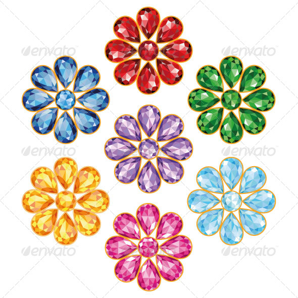 Seven Flowers - Decorative Vectors
