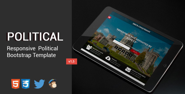 Political HTML5/CSS3 Responsive Landing Page