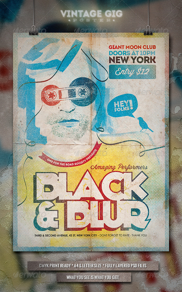 Vintage GIG Poster - III - Concerts Events
