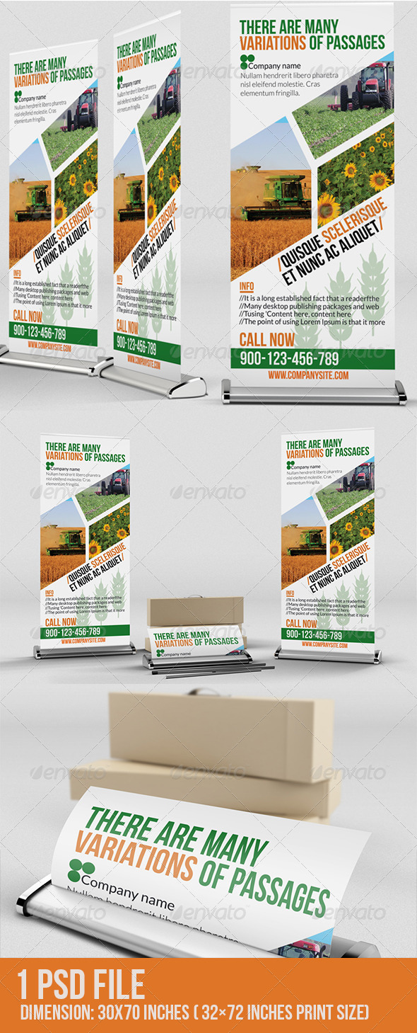 Agriculture Roll-Up - Signage Print Templates