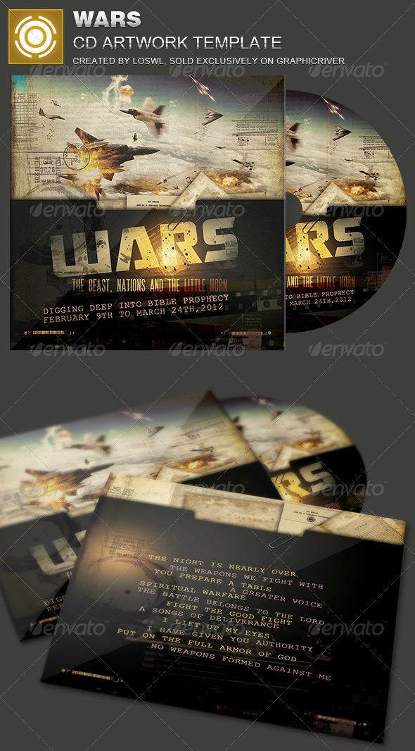 Wars CD Artwork Template - CD & DVD Artwork Print Templates