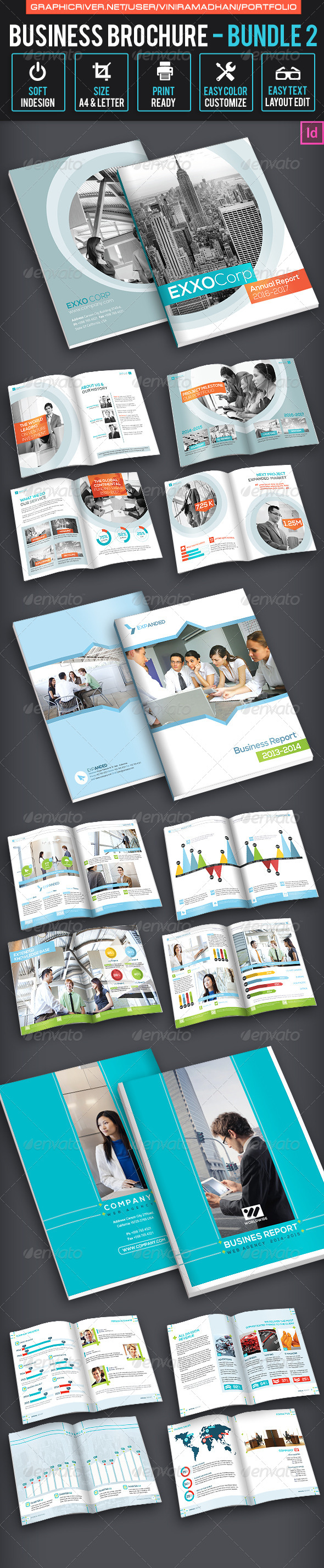 Business Brochure Bundle 2 - Corporate Brochures