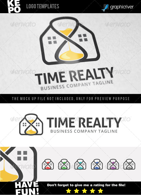 Time Realty Logo - Buildings Logo Templates