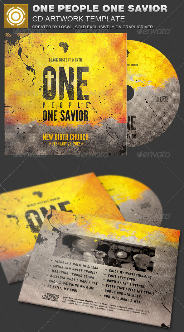 One People One Savior CD Artwork Template - CD & DVD Artwork Print Templates