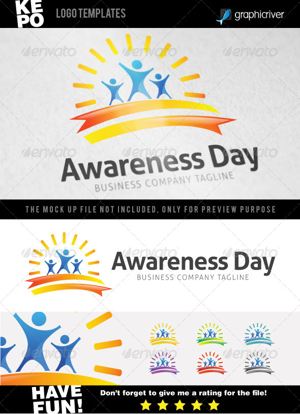 Awareness Day Logo - Humans Logo Templates