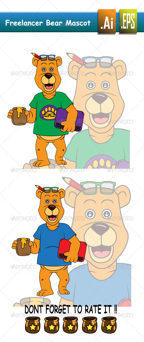 Freelancer Bear - Animals Characters