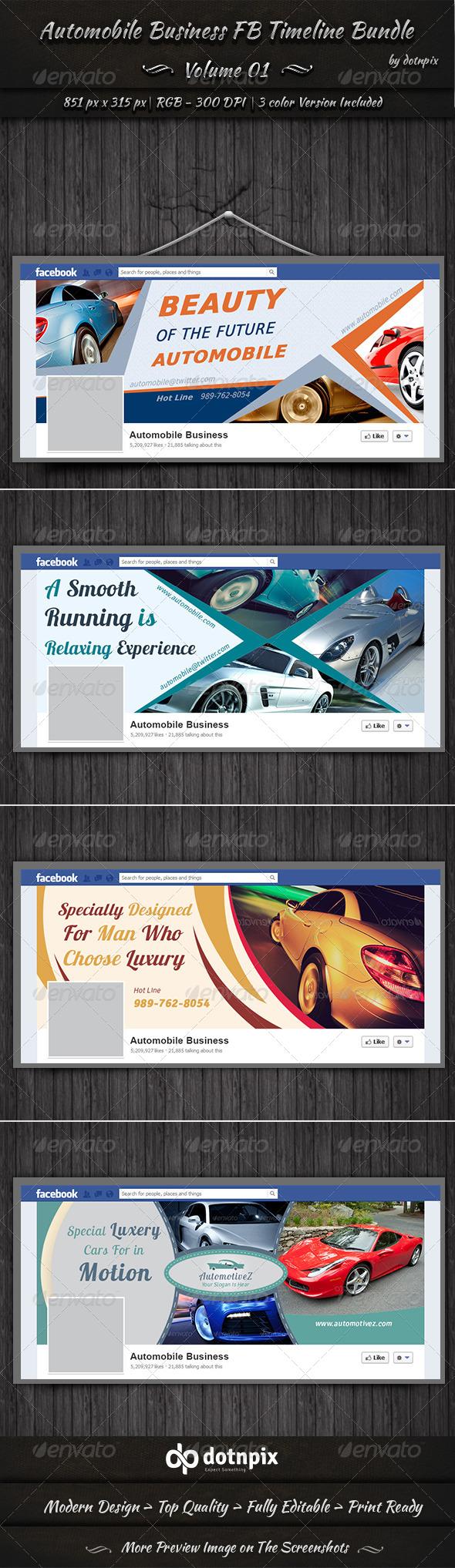 Automobile Business FB Timeline Bundle | Volume 1 - Facebook Timeline Covers Social Media