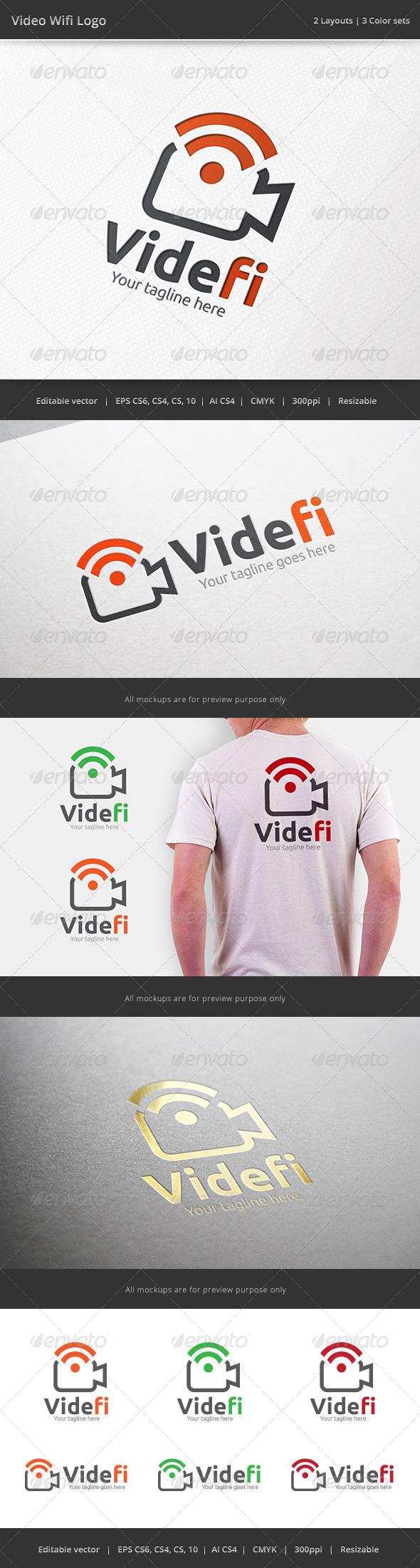 Video Wifi Camera Logo - Objects Logo Templates