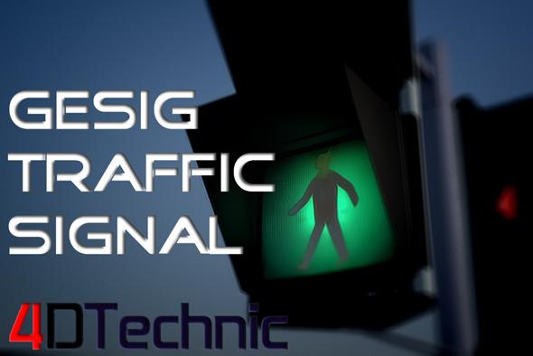 Gesig Traffic Signal - 3DOcean Item for Sale