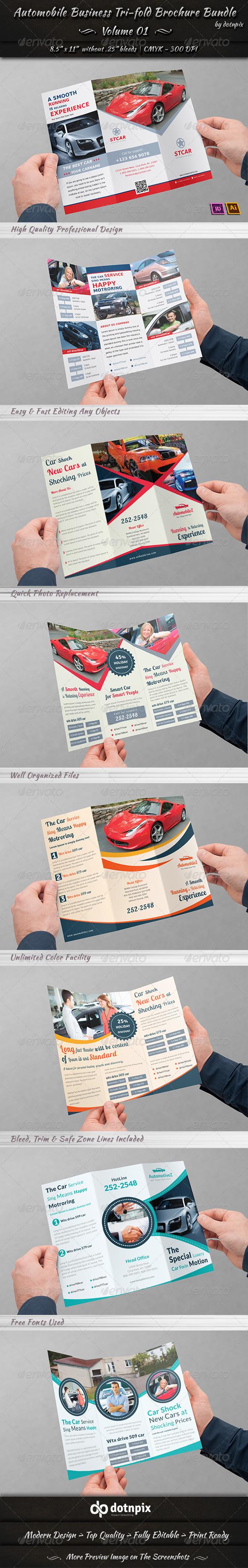 Automobile Business Tri-fold Brochure Bundle | V 1 - Corporate Brochures