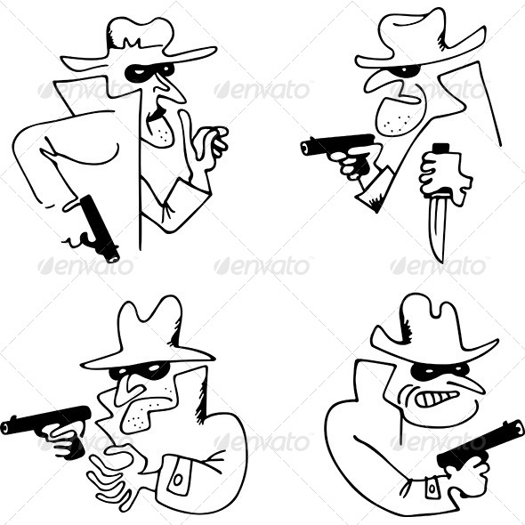 Gangster with a Gun - People Characters