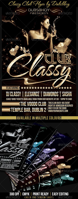 Classy Club Flyer - Print Templates