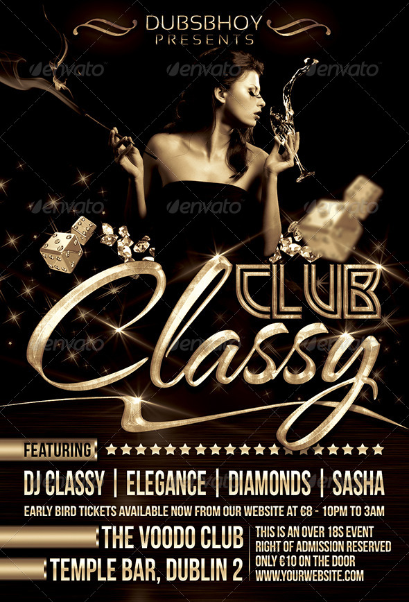 Classy Club Flyer By Dubsbhoy | Graphicriver