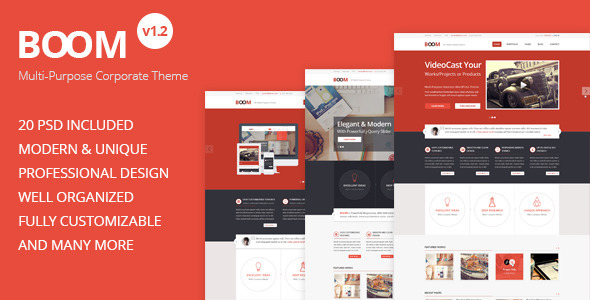 BOOM – Multi-Purpose Corporate PSD Theme