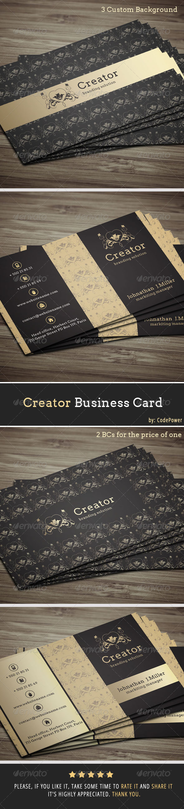 Creator Business Card - Creative Business Cards
