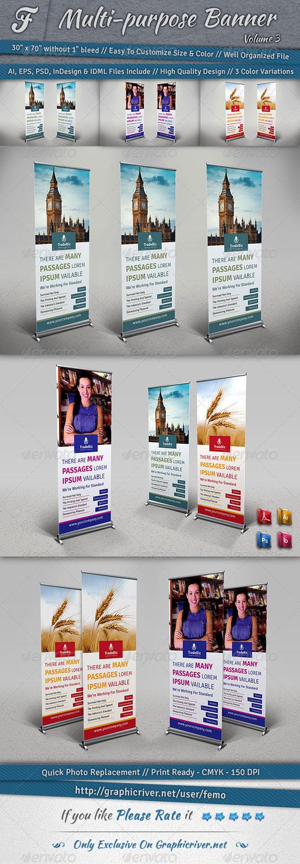 Multi-purpose Banner | Volume 3 - Signage Print Templates