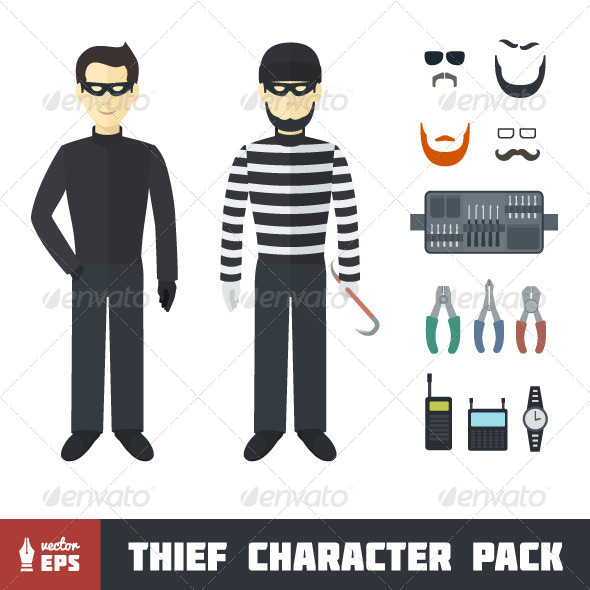 Thief Character Set - People Characters