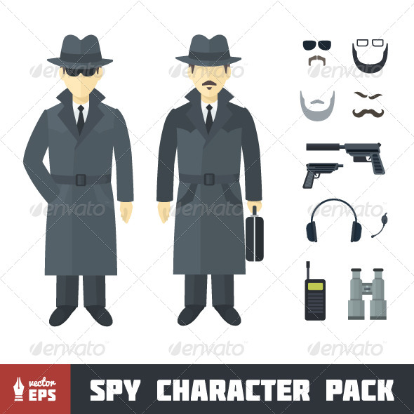Spy Character Set - People Characters