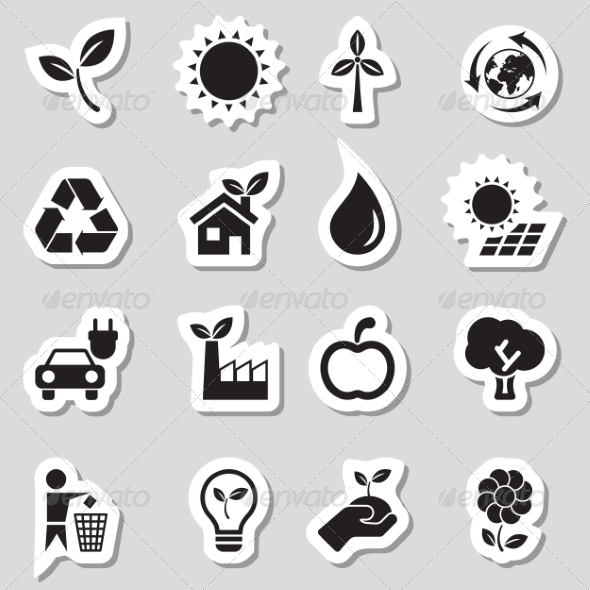 Ecology Icons as Labes - Icons