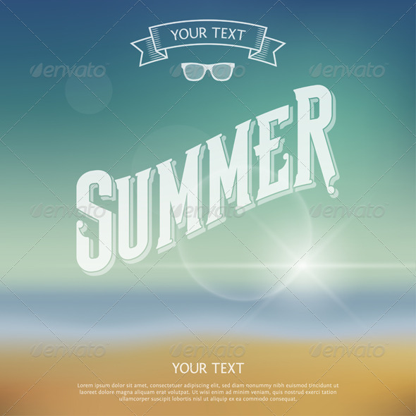 Summer Label - Seasons/Holidays Conceptual