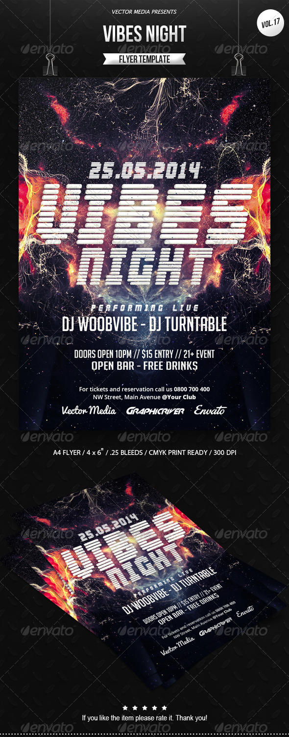 Vibes Night - Flyer [Vol.17] - Clubs & Parties Events