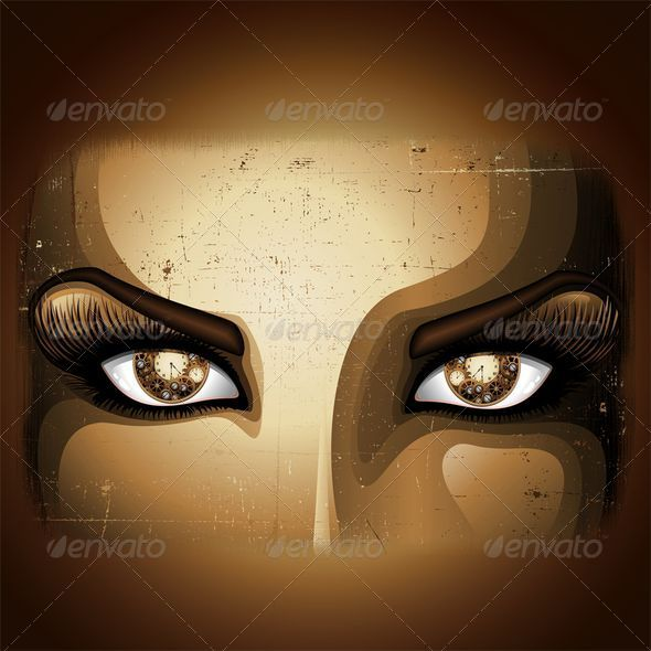 Steampunk Girl Eyes - People Characters