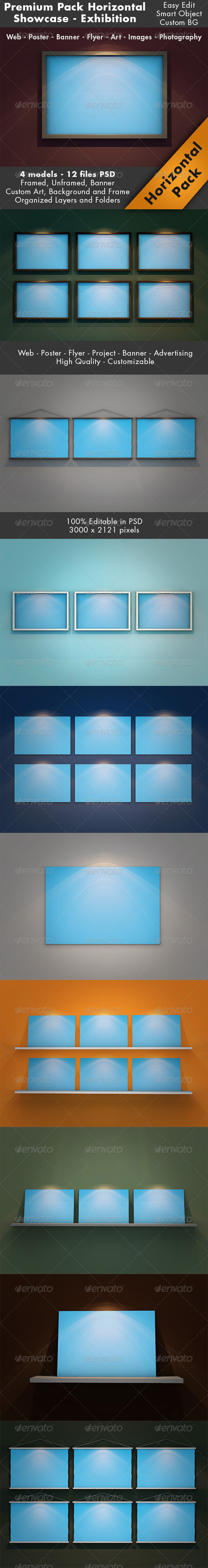 Horizontal Showcase Mockup Pack - Website Displays