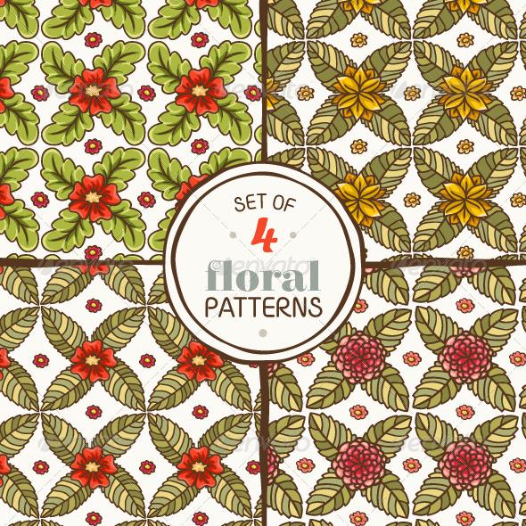 Set of Floral Patterns - Patterns Decorative
