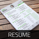 Resume & Cover Letter Template v5 - GraphicRiver Item for Sale