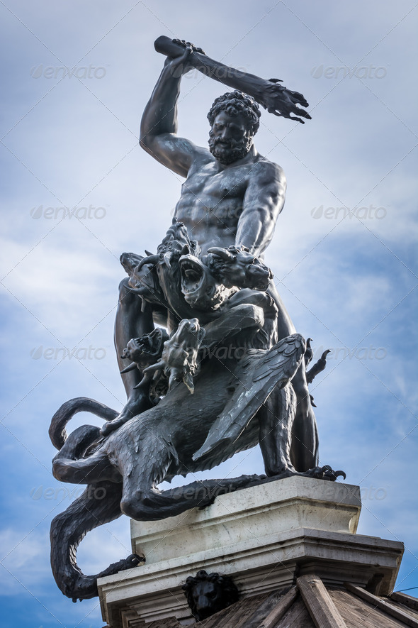 Herkules Fountain - Stock Photo - Images