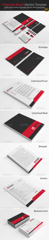 Corporate Brand Identity Template. - Stationery Print Templates