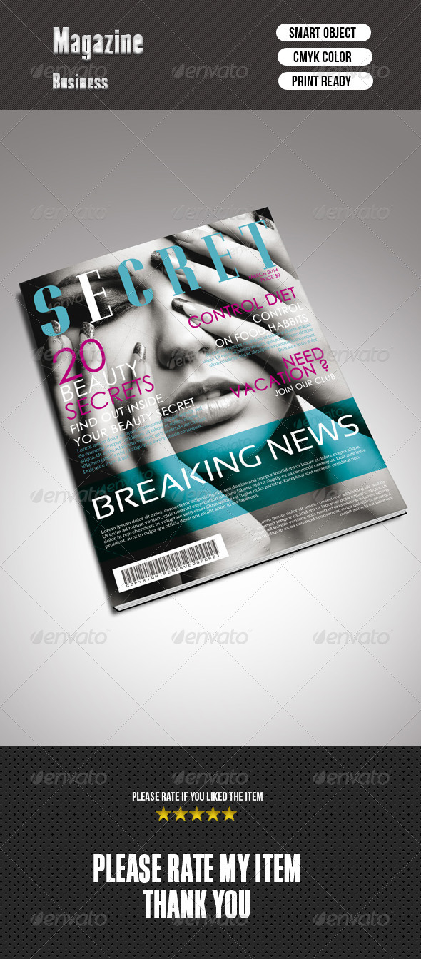 Beauty Magazine Cover - Magazines Print Templates